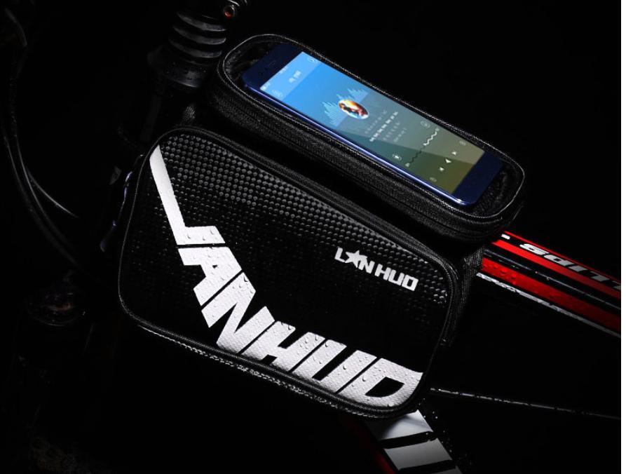 Велосипедная сумка на раму с отсеком для телефона