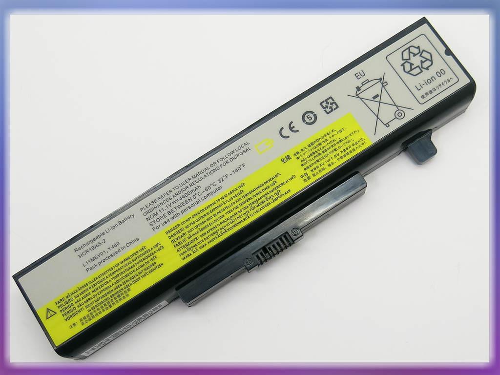 Батарея Lenovo (L11L6Y01) IdeaPad Y480 (10.8V 48Wh). Black
