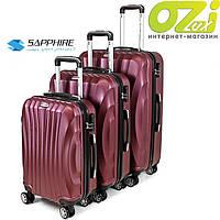 Набор чемоданов Sapphire ST-100 3 штуки purple