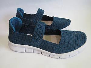 Кеды - слипоны женские синие, размер 38 💥Бесплатная доставка
