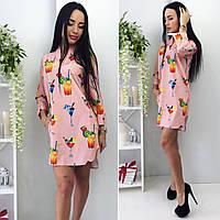 Платье-рубашка  цвета пудры  от YuLiYa Chumachenko, фото 1
