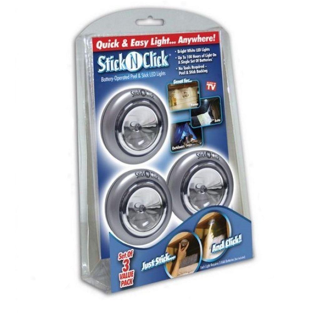 Светодиодный светильник Stick n Click, 3 шт. набор