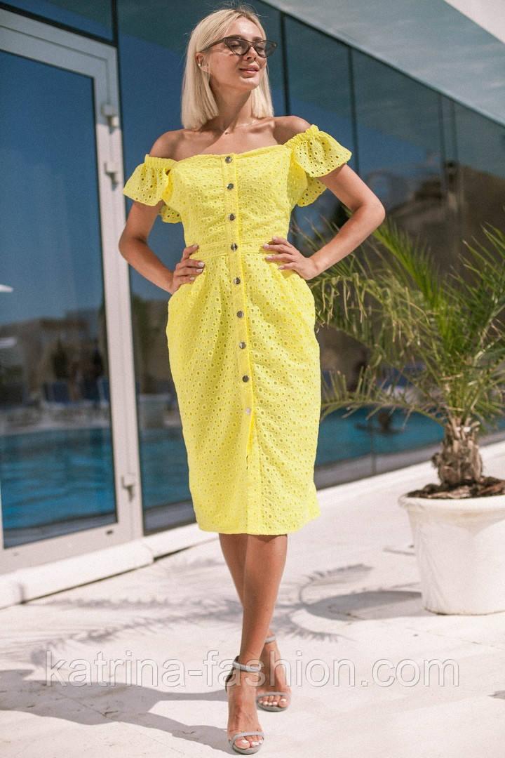 cd5d892a3f8 Женское стильное платье прошва (6 цветов)  продажа