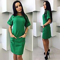 Платье с перфорацией зеленого цвета от YuLiYa Chumachenko, фото 1