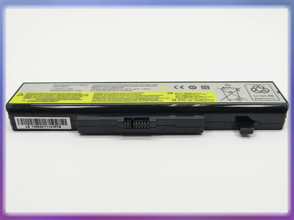 Батарея Lenovo (L11L6Y01) IdeaPad Y580 (10.8V 48Wh). Black 2