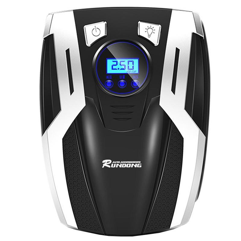 ★ Компрессор автомобильный RUNDONG AC-980 с LED дисплеем от прикуривателя