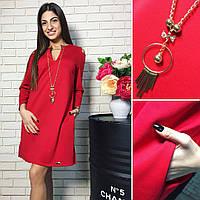 Туника женская красного цвета от YuLiYa Chumachenko, фото 1