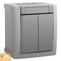 VIKO PACIFIC Накладной Выключатель 2-й Серый