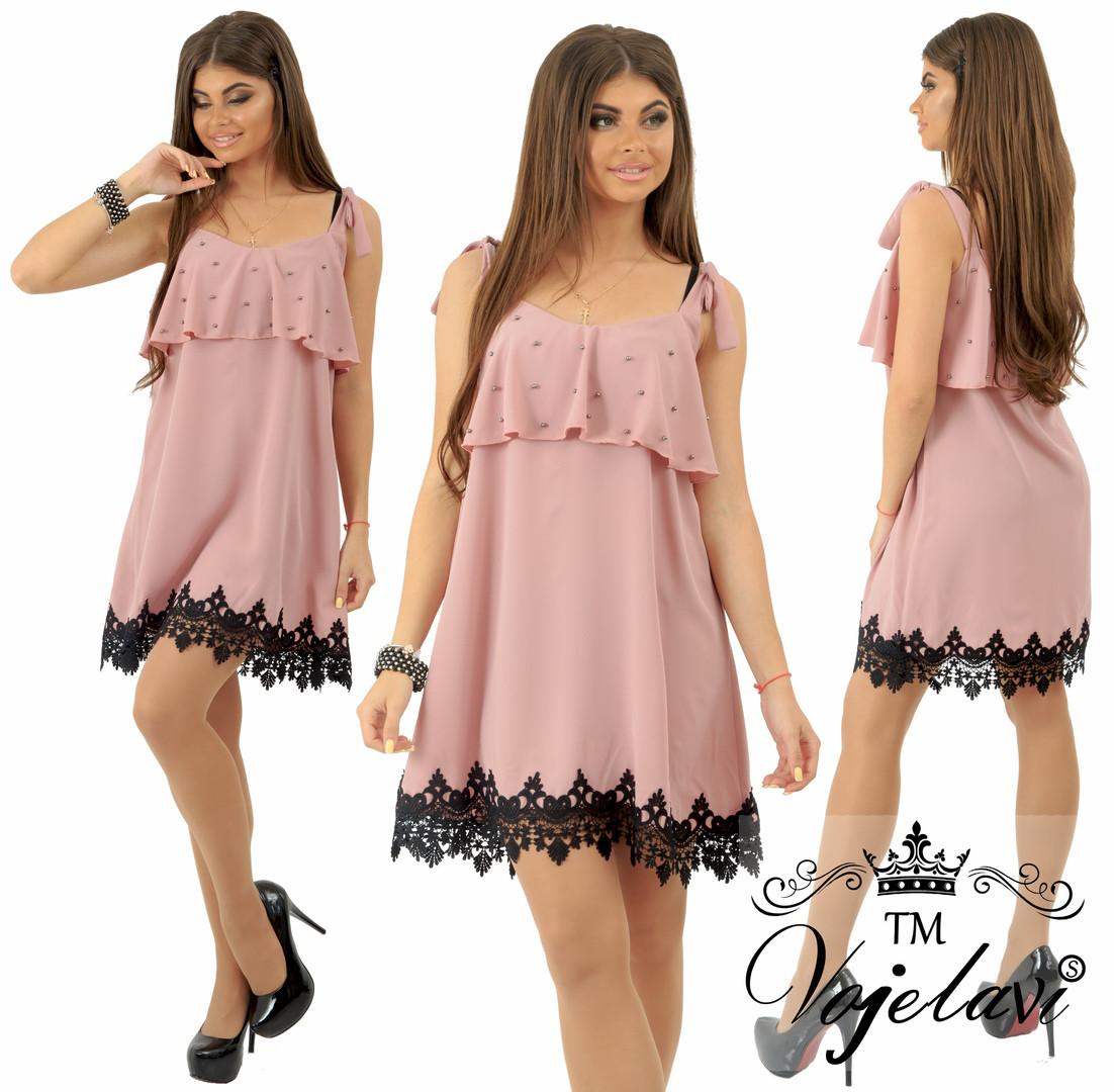 a4661a8b1e4 Красивое летнее платье мокрый шелк с жемчугом р.42