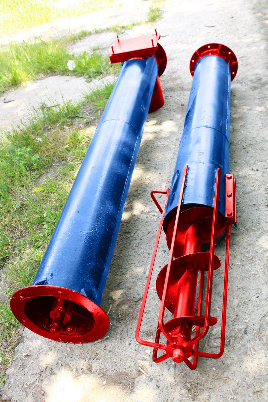 Шнек в сборе без двигателя диаметр - 220 мм, длинна - 12 м