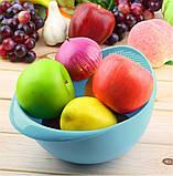Миска-друшляк 2 в 1 для фруктів, овочів, рису «Фріш», фото 2