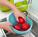Миска-друшляк 2 в 1 для фруктів, овочів, рису «Фріш», фото 4