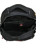 Рюкзак городской спортивный школьный туристический, сумка для ноутбука 924 черный 27л, фото 3