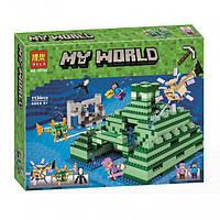 """Конструктор Bela 10734 Minecraft (Аналог Лего Майнкрафт 21136) """"Подводная крепость"""" 1134 деталей."""