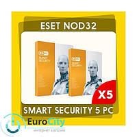 Антивирус ESET NOD32 Smart Security (x32-x64). Электронный ключ активации - 5PC