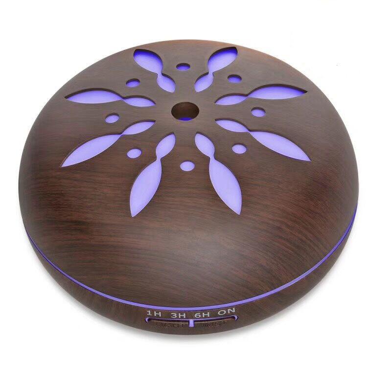 Портативный увлажнитель воздуха SUNROZ Flower Design с дистанционным управлением 550мл Темное Дерево(SUN1282)