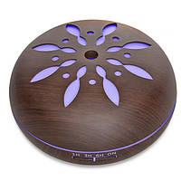 Портативный увлажнитель воздуха SUNROZ Flower Design с дистанционным управлением 550мл Темное Дерево(SUN1282), фото 1