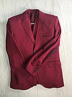 Пиджак  бордовый трикотаж 11-14 лет, подростковая одежда