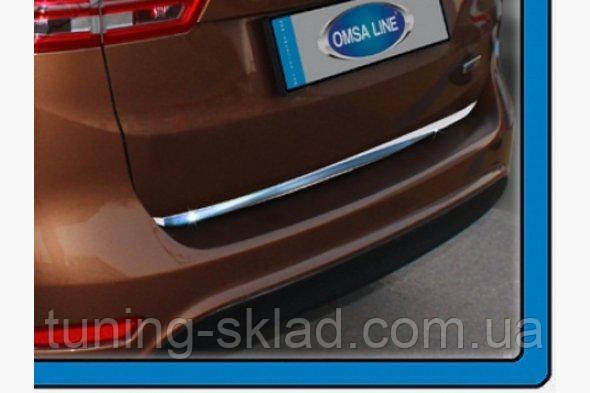 Хром кромка багажника Ford C-Max 2010  (Форд)