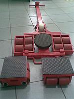 Подкатная опора NobleLift X8 + Y8 (такелажные ролики), грузоподъемность 16 тн (комплект из 3 тележек)