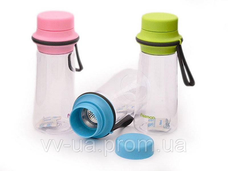Бутылка для воды Fissman с фильтром 6847, 500 мл, в асс(3)