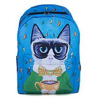 Оригинальный городской рюкзак Cool Cat (синий)