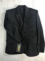 Пиджак трикотаж черный для мальчика 11-14 лет