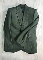 Пиджак трикотажный хаки для мальчика 11-14 лет