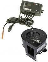Комплект автоматика IE-26 с Г.В.С. и вентилятор DRV-14 для твердотопливного котла