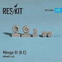 Dassault Mirage III (B,C) wheels set 1/72  RES/KIT 72-0028