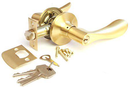 Защелка межкомнатная APECS 891-01-GM матовое золото (Китай)