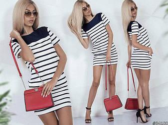 """Літній коротке плаття тільник в смужку """"Sunny"""" з короткими рукавами і кишенями, фото 2"""