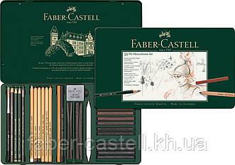 Специальный художественный набор Faber-Castell PITT MONOCHROME из 33 предметов в мет. коробке, 112977
