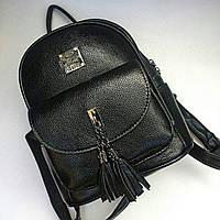 Рюкзак женский(кожзам), эко кожа, рюкзак черный,, рюкзак для школы d013c402098