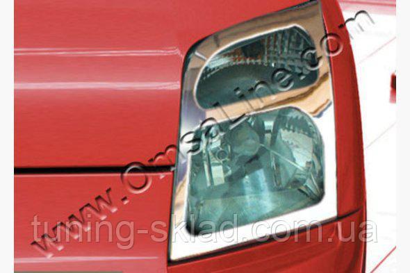 Хром накладки на фары  Ford Connect 2002-2006  (Форд Коннект)
