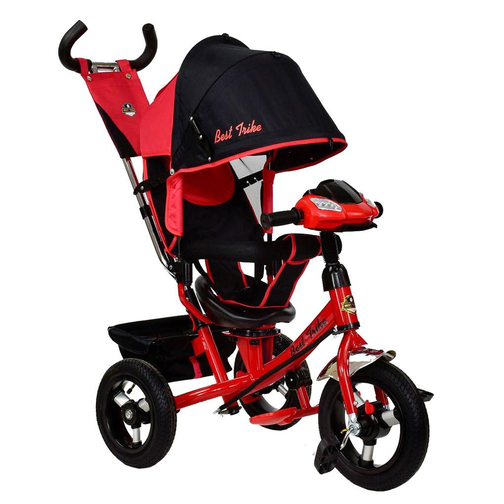 Bелосипед трехколесный  Best Trike 7700 В - 6340 с надувными колесами Красный 65691