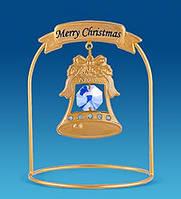 Фігурка з кристалами Сваровські та позолотою Різдвяний дзвіночок