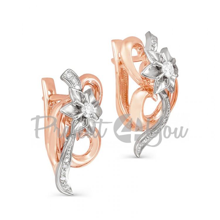 Золотое кольцо с бриллиантом - 6,20 г