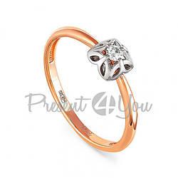 Золотое кольцо с бриллиантом - 1,52 г