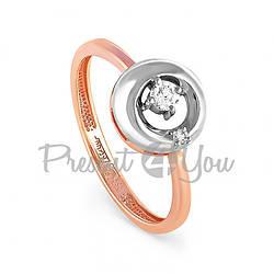 Золотое кольцо с бриллиантами - 2,06 г (11-0459)