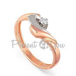 Золотое кольцо с бриллиантом - 2,41 г (11-0646)