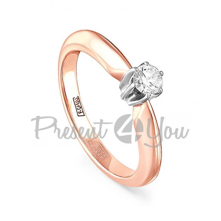Золотое кольцо с бриллиантом - 2,91г (01-0023)