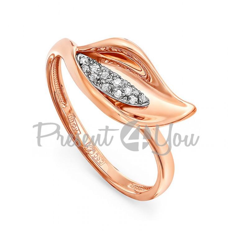 Золотое кольцо с бриллиантами - 2,91 г (11-0361)