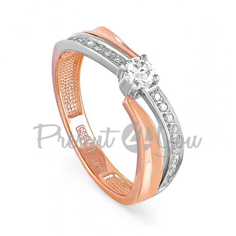 Золотое кольцо с бриллиантами - 2,58 г (11-0397)