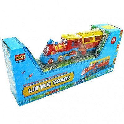Конструктор для малюків Потяг з вагоном, 8588, музика, світло, в коробці, на батарейки