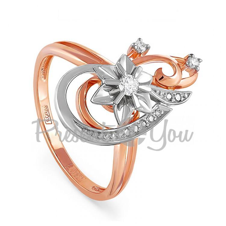 Золотое кольцо с бриллиантами - 3,53 г (11-0346)