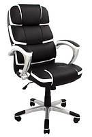 Ричгейм-Х кресло Richman 1190х730х530 мм черное с белым кантом, фото 1