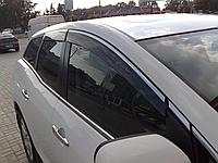 Дефлекторы окон (ветровики) с хром полосой (кантом-молдингом) mazda cx-7 (мазда сх-7) 2006-2012