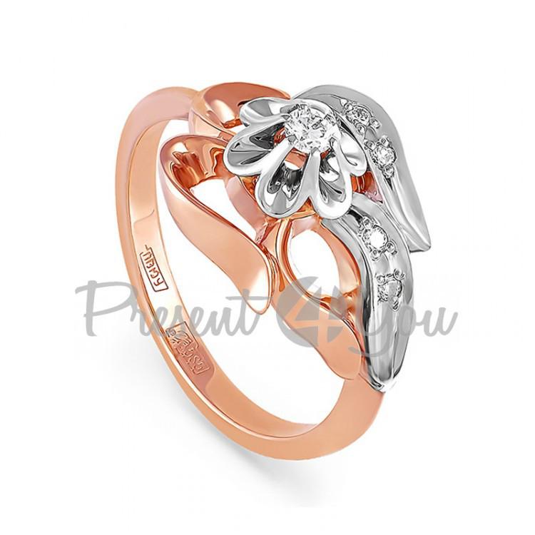 Золотое кольцо с бриллиантом - 4,61 г (11-0053)