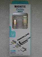 Магнітний кабель для зарядки та передачі даних micro USB